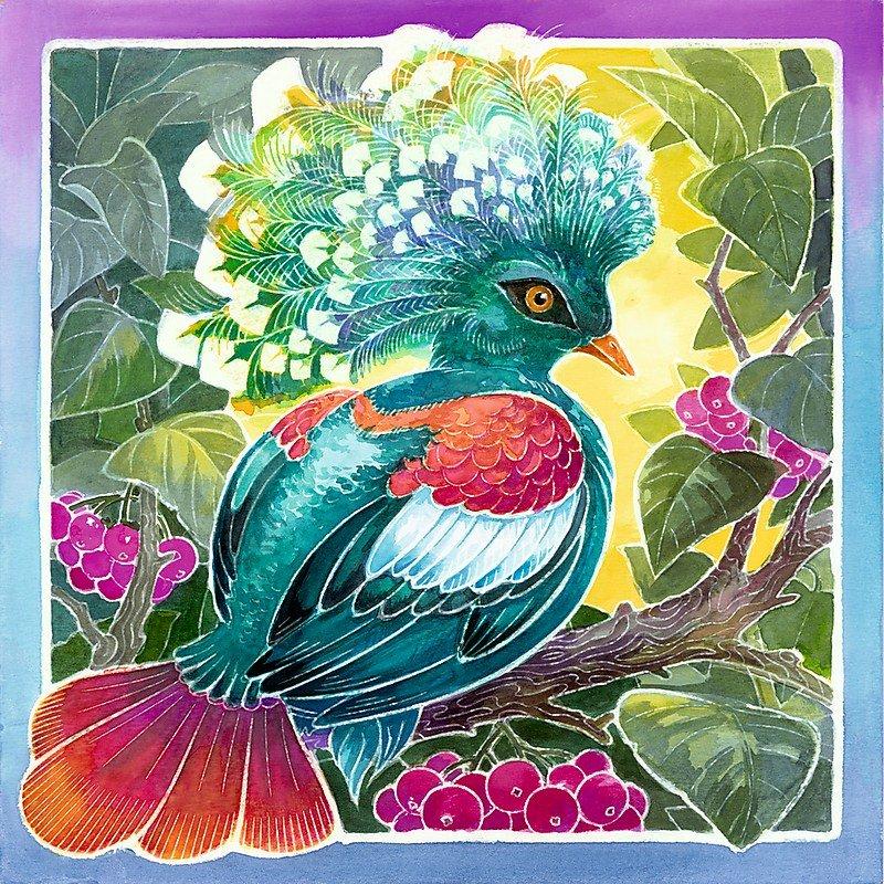 Ravensburger 29443 Aquarelle Glow Edition Bunte Vögel