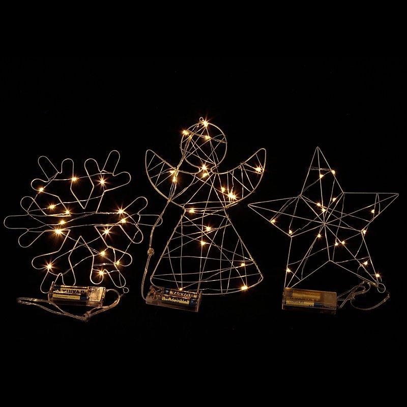 Weihnachtsdeko Fensterbeleuchtung.Fensterbeleuchtung 3fach Sort 15 Led